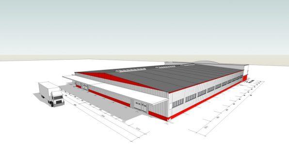 Projekt novej výrobnej haly
